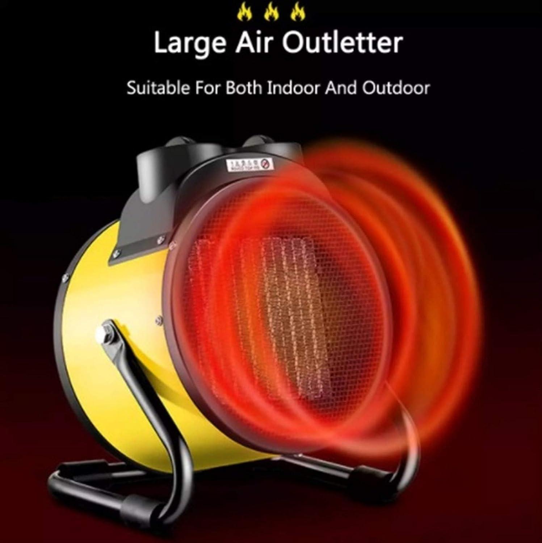 YSJ 2000W / 3000W Portable Ceramic Space elektrische kachels High Power Air Heater Keramisch Fan Warmer Industry Household Badkamer (Color : 2000W) 3000W
