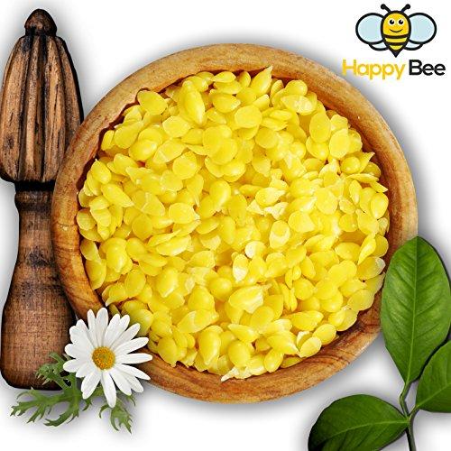 Happy Beene 200gramos 100% pura cera de abejas velas Pastillen-Ideal para cosméticos y la Fabricación