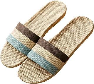 Wakind ルームシューズ ベーシック 来客用 部屋用 履きやすく 室内 静音で軽量 麻 夏春スリッパ編み物