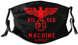 Support 81 Big Red Art Design Face cover PM2.427 Windproof Dustproof mouth cover Outdoor activities Repeatable washable scarf