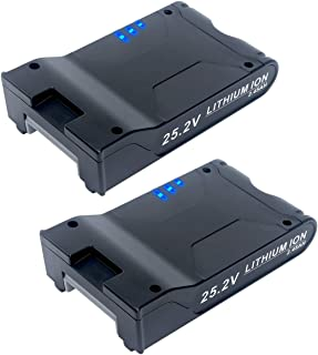 Elefly 2 Pack 25.2V 2450mAh Lithium Replacement Battery for Shark 25.2 Volt Li-ion Battery XBAT200 Shark ION Rocket IONFlex ION F80 IONFlex 2X Cordless Vacuums