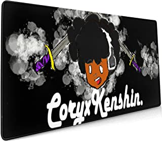 Coryx-Ken-shin 15.8x35.5 in Waterproof Customized Mouse Pad,Personalized Oversize Non-Slip Rubber Mouse Mat