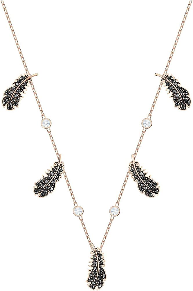Collana da donna di swarovski della collezione naughty. in lega di metalli placcatura oro rosa e cristalli 5497874