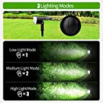 Claoner 32 LED Solar Landscape Spotlights, Wireless Waterproof Solar Landscaping Spotlights Outdoor Solar Powered Wall Lights for Yard Garden Driveway Porch Walkway Pool Patio- Cold White(2 Pack) 3 Lighting Modes