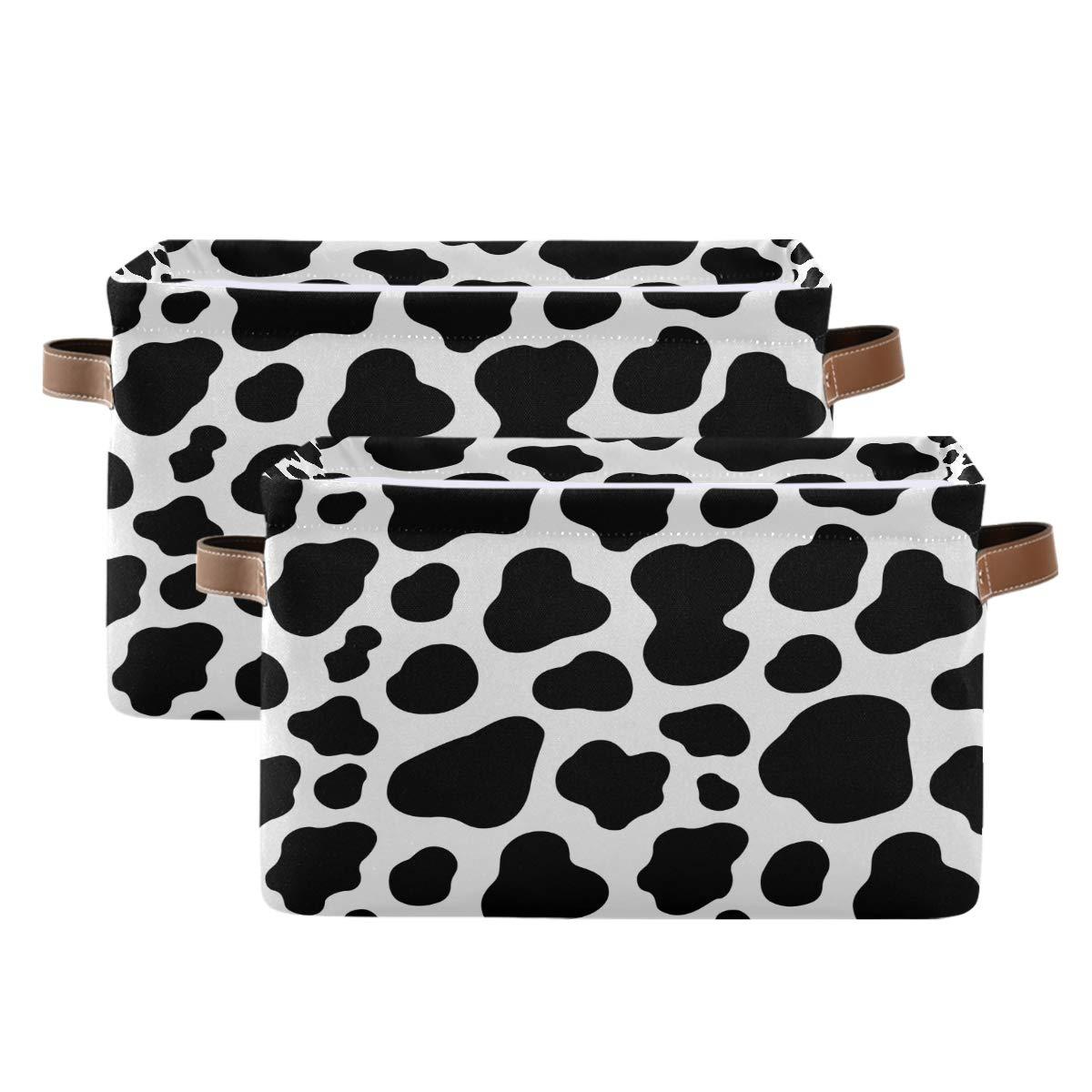 WXLIFE Storage Basket Bins Animal Max 66% Sales for sale OFF Cow Print Pattern Large Storag