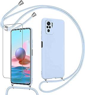 "Pnakqil Frosted Phone Case voor Xiaomi Redmi Note 10 4G/Redmi Note 10S 6.4 ""Siliconen Case + 1 St Gehard Glas Screen Prote..."