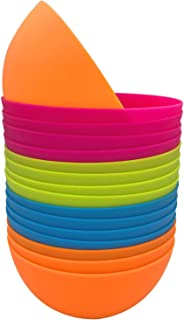 Plastic Bowls set of 12 - Unbreakable and Reusable 24oz/5.9 inch Plastic Cereal/Soup/Salad Bowls in4 Assorted Color | Dish...