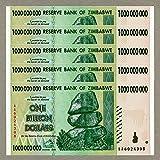 Zimbabwe 1 billón de dólares x 5 unidades AA 2008 P83 Consecutive UNC Currency Bills