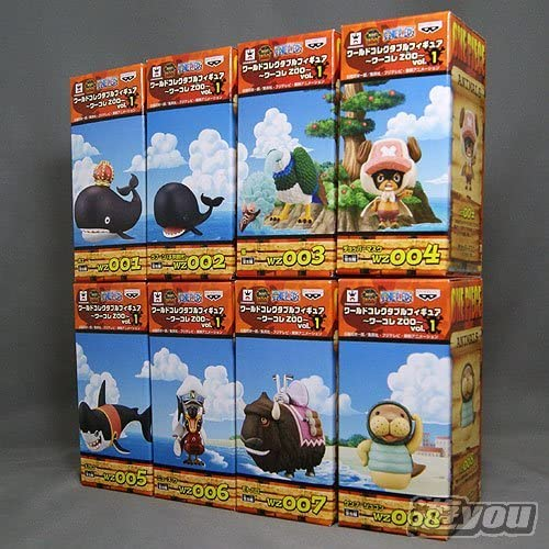 One Piece World Collectable Figure  Wakore ZOO  vol.1 all eight species set (japan import)