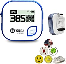 $86 » GolfBuddy Voice 2 Golf GPS/Rangefinder Bundle with 1 Magnetic Hat Clip and 5 Ball Markers