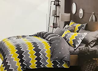 Starstorm_Line_4 Pieces Fitted Single Size Bed Sheet Set of 1 Fitted Bed Sheet, 1 Bed Cover and 2 Pillow Cases (Click abov...