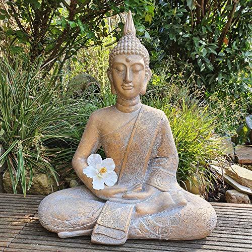 INtrenDU Buddha Figur Dhyana Mudra (Bronze meliert, 62cm)