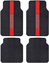 SPC SPC1913RS Juego de Alfombras Universales PVC/Latex para El Coche, Rojo/Negro, Set de 4