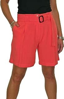 icecoolfashion Lightweight Paperbag Linen Shorts Mid Rise Summer 10-22