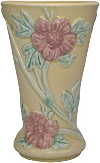 Hull Pottery Crab Apple Yellow Floral Vase 50