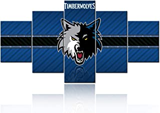 Black and White Wall Art Native American Decor Minnesota Timberwolves Paintings NBA..