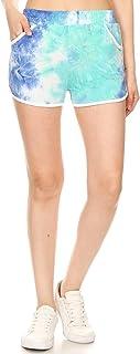Leggings Depot Women's Popular Mid-Rise Fashion Shorts with Pockets BAT4