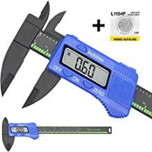 Electronic Digital Caliper,Vernier Caliper, Plastic Caliper Measuring Tool with Inch/Millimeter Conversion, Extra Large LCD Screen, 0-6 Inch/0-150 mm, Auto Off Featured Micrometer Ruler (Blue)