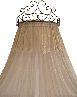 Metal Crown Wall Sculptures Teester Bed Canopy Drapery Hardware Over Bed or Window (Cherry(24.75