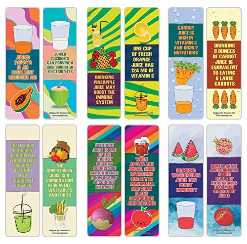 Creanoso Educatief Over Sappen Feiten Bookmarks Series 2 (12-Pack) - Zes Diverse Bulk Pack Book Pagina Clippers - Grote kleinigheidjes Cadeaus voor kinderen - Groot-leermiddel Giveaways