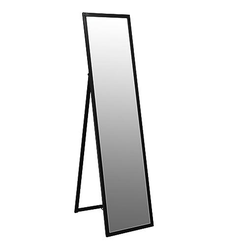 b021841451e Harbour Housewares Metal Framed Free Standing Full Length Mirror 1370mm -  Black