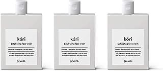 Grüum Kóri Gentle Exfoliating Face Wash, Orange Trio Pack, Eucalyptus & Witch Hazel Scent 3 x 120ml Trio