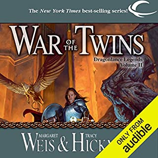 War of the Twins     Dragonlance: Legends, Book 2              By:                                                                                                                                 Margaret Weis,                                                                                        Tracy Hickman                               Narrated by:                                                                                                                                 Ax Norman                      Length: 13 hrs and 53 mins     783 ratings     Overall 4.5