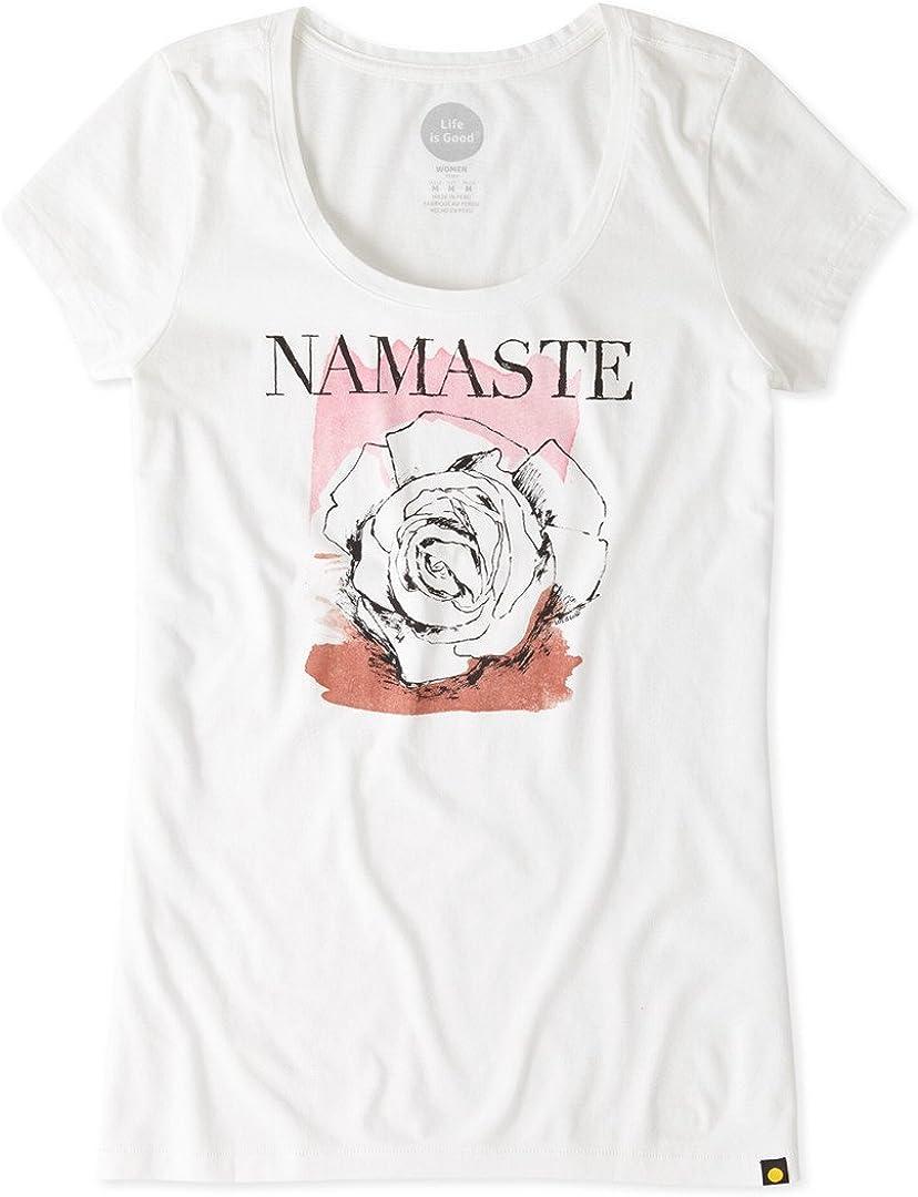 Life is Good Womens Newbury Scoop Namaste Rose Tee