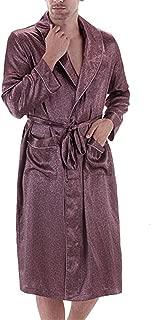 Male Dressing Gown Mens Paisley Bath Robe Silk Robe Satin Bathrobe Noble Men Home Clothing