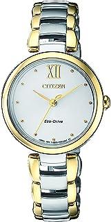 سيتيزن ساعة رسمية للنساء انالوج بعقارب ستانلس ستيل - EM0534-80A