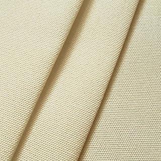 STOFFKONTOR Outdoor Stoff Markisenstoff - Outdoorstoff Meterware wasserabweisend - Sonnenschutz Stoff Blickdicht und farbecht - Creme-Weiß