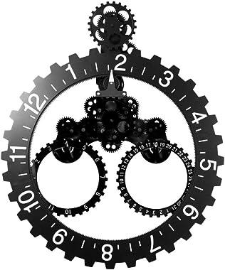 Goed YE Invotis Horloge murale avec date Noir/argenté Taille L 68,5 x 55 cm