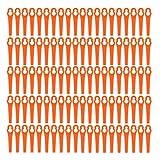 100 cuchillas de plástico para desbrozadora eléctrica, cuchillas de repuesto de plástico, cuchillas de recambio para cortabordes Einhell con batería, color rojo