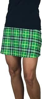 Smash Dandy Green Plaid Slim Golf Skort