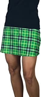Smash Dandy Green Plaid Slim Golf Skort