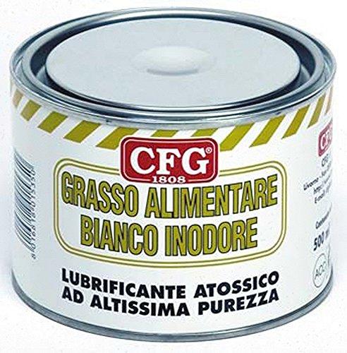 CFG - SPECIALE GRASSO ALIMENTARE 500ML BIANCO INODORE ATOSSICO LUBRIFICA PROTEGGE ORGANI MACCHINE PER LAVORAZIONE ALIMENTARE