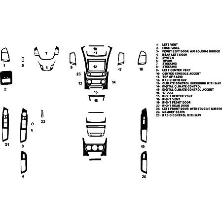 Brushed Black Rvinyl Rdash Dash Kit Decal Trim for Kia Sorento 2008-2010 Aluminum