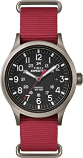 Timex Men's Scout | Red Strap Black 24-Hour Dial Luminous | Outdoor TW4B04500