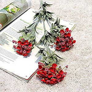 Artificial and Dried Flower Artificial Flower 3 Fork Cat Eye Snowball Simulation Flower for Wedding Decoration Fake Flower Home Decoration