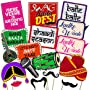 Party Propz Photo Booth/Mehandi/Sangeet/Bachelorette Props (Multicolour)