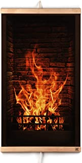 CG HOME Far Infrared Carbon Wall Hung Heating Panel Fireplace Picture - Thin Light Electric Film Heater 110V / 470 W. Energy Efficient - Safe with Thermostat. Flexible, Foldable and Portable