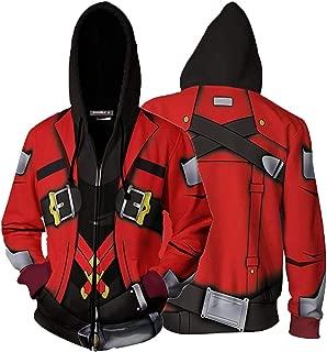 Blazblue Continuum Shift Sweatshirts Men's Ragna The Bloodedge Zip Up Hoodies Jacket