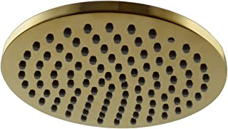KES All Stainless Steel 8-Inch Extra Big Rainfall Shower Head Replacement Part for Bathroom Shower System Overhead Showerhead Contemporary Style Titanium Gold, J203-4