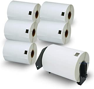"""BETCKEY - Compatible DK-1241 (4"""" x 6"""") Shipping Labels,Compatible with Brother QL Label Printers [6 Rolls/1200 Labels + 1 ..."""