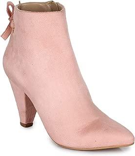 Bruno Manetti Women Suede Nude Pink Heel Boots