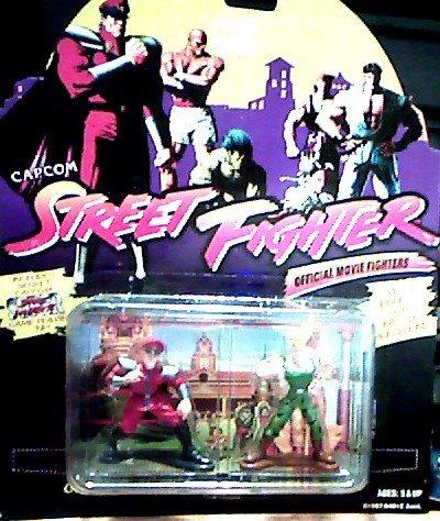 General M. Bison Vs. Colonel Guile Die Cast Metal Action Figures - Capcom Street Fighter Official Movie Fighters