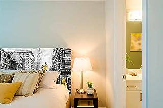 Cabecero Cama PVC Fondo-Nueva-York-Carboncillo | Varias Medidas 150x60cm | Fácil colocación | Decoración Habitación | Motivos paisajisticos | Naturaleza | Urbes | Multicolor | Diseño Profesional