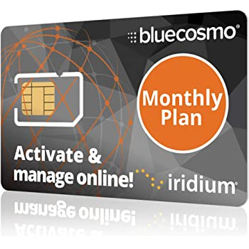 BlueCosmo Iridium Satellite Phone Global SIM Card - Monthly Airtime Service Plans for Iridium Extreme - Iridium 9555 - Iridium 9505A - Iridium GO! - No Activation Fees - Online Activation 24/7