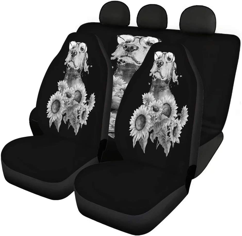 Max 51% OFF Youngerbaby Retro Sunflower Dog Print Car Seat Set Cover Ca Full Bargain sale