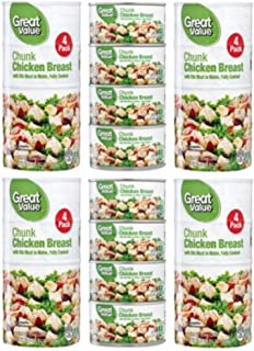 Great Value Chunk Chicken Breast, 12.5 oz, 4 pack (Pack of 6)